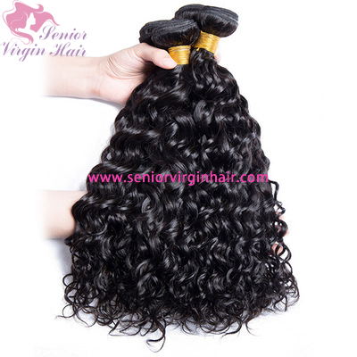 Water Wave Bundles Luxury Hair 100% Human Hair Extensions With Double-Weft