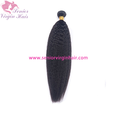 Brazilian Hair 11A Grade Natural Black Human Hair Kinky Straight Yaki Texture