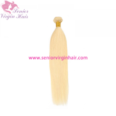 Free Shipping Senior Hair 11A Grade Brazilian Blonde #613 Silky Straight Bundles 100% Human Hair