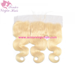 Brazilian 100% Human Hair #613 Blonde Hair 13*4 Lace Frontal Pre plucked Baby Hair