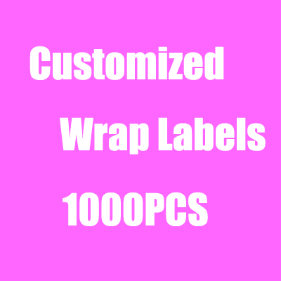 Customized Hair Bundle Wraps Adhesive Labels 30x110mm Wrapping Paper's Stickers Labels Tags