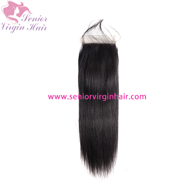 11A Grade Brazilian Hair Silky Straight 4x4 Lace Closure Free/Middle/Three Part Human Hair Closures