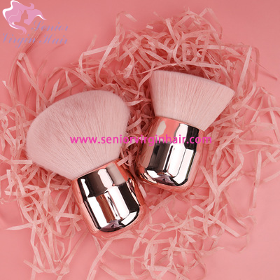 Luxury Shinny Make up Brush Silver Soft Mushroom Powder Brush Pink Angled Flat Air Kabuki Blusher Makeup Brush