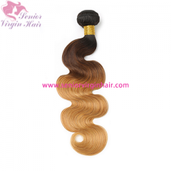 Ombre Brazilian hair 3 Tone 1B/4/27 Colored Human Hair Bundles