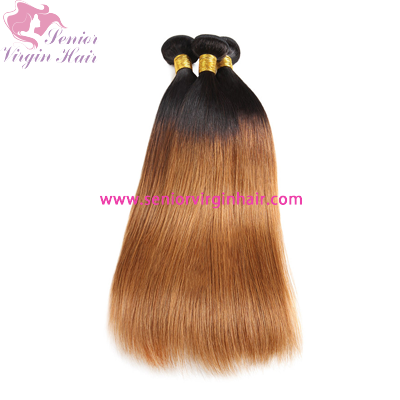 Brazilian Hair Two-tone 1B/30 Ombre Color Hair 100% Human Hair