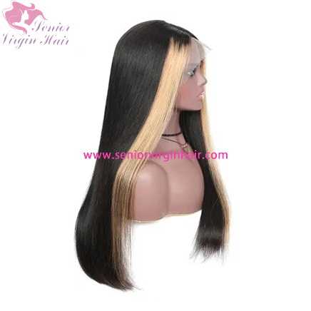 13X4 Straight Lace Front Human Hair Wigs for Black Women Highlight Human Hair Wigs