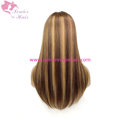 13x4 Lace Front Human Hair Wigs For Women Ombre Human Hair Wigs Brown Blonde Highlight Wig