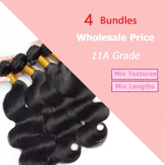 Wholesale Hair Weave Brazilian Hair Bundles Natural Black Human Hair Extensions