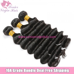 Free Shipping Bundle Deal Brazilian Hair Loose Deep Wave Hair Extensions