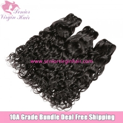 3 Bundles Deal Free Shipping Brazilian Natural Wave 100% Human Hair Unprocessed