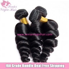 3 Bundles Deal Free Shipping 10A Luxury Brazilian Hair Loose Wave