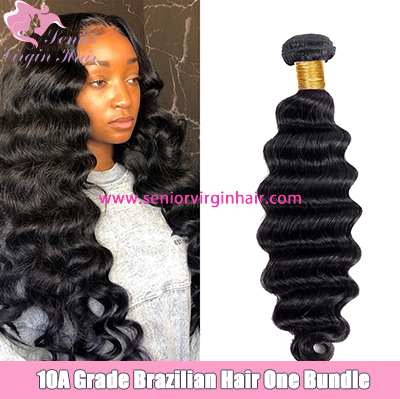 Senior Virgin Hair Brazilian Hair 10A Grade Virgin Human Hair Weave Loose Deep Wave Bundles