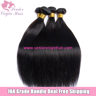 4 Bundles Deal Free Shipping Straight Bundle Natural Black 100% Human Hair