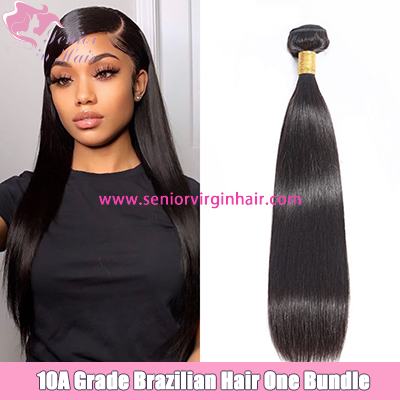 10A Brazilian Silky Straight 1B Color Natural Black Color 100% Virgin Human Hair