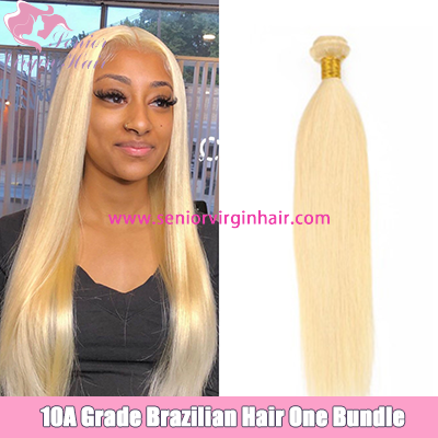 Senior Hair 10A Grade Brazilian Blonde #613 Silky Straight Bundles 100% Human Hair