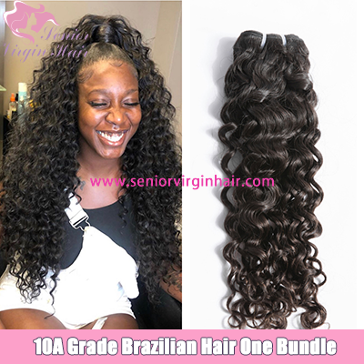 10A Brazilian Italian Curly Bundles Premium Virgin Human Hair Weave Unprocessed