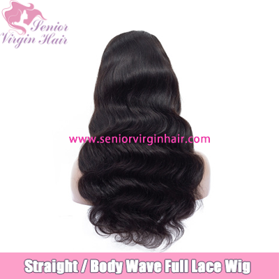 Pre Plucked Full Lace Wigs Body Wave Long Straight Wig Brazilian Human Hair Wigs For Black Women