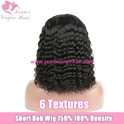 Wholesale Lace Front Wig Curly Short Bob Wigs PrePlucked Lace Wig With Baby Hair Brazilian Hair Wig Human Hair Water Wave Deep Wave