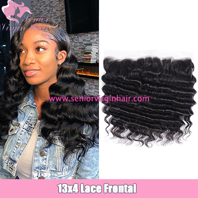 Brazilian Hair Loose Deep Wave 13*4 Lace Frontal 100% Human Hair Remy Hair