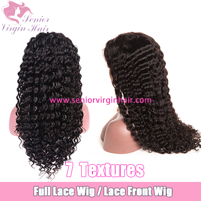 Brazilian 100% Human Hair Wig Curly Lace Front Wig Full Lace Wig