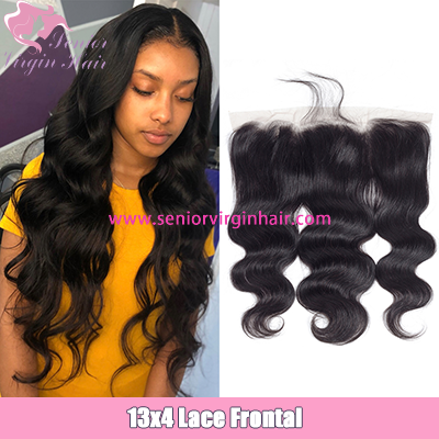 Virgin Brazilian Body Wave 13*4  Ear to Ear Lace Frontal Closure Natural Color Human Hair