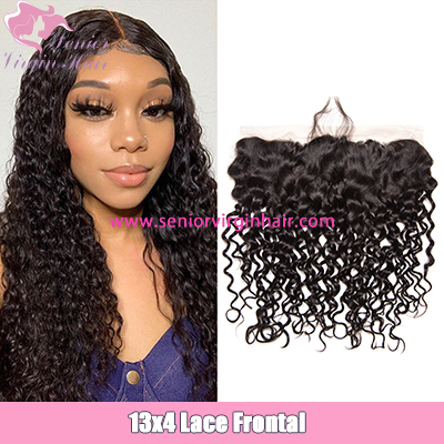 Brazilian Hair Water Wave 13*4 Lace Frontal Swiss Lace Frontal Preplucked
