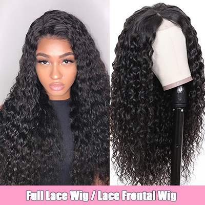 Brazilian 100% Human Hair Wig Water Wave Lace Front Wig Full Lace Wig