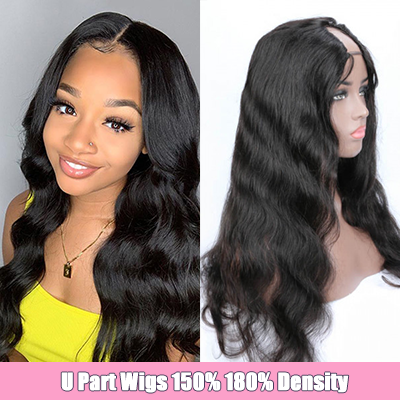 Body Wave U Part Wig Brazilian Human Hair U Part Wigs