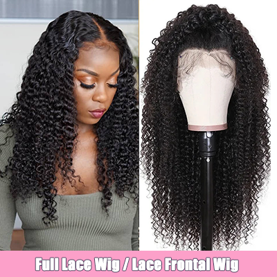 Brazilian 100% Human Hair Wig Kinky Curly Lace Front Wig Full Lace Wig