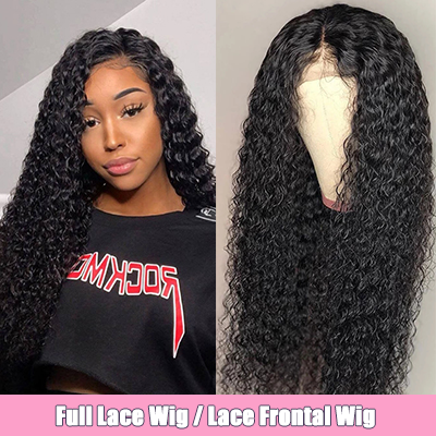 Curly Lace Front Wigs Pre-plucked WIth Baby Hair Natural Black Full Lace Wig Cheap Human Hair Wigs