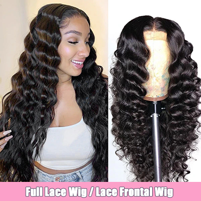 Best Cheap Wigs Loose Deep Wave Lace Frontal Wigs Full Lace Wigs Preplucked With Baby Hair