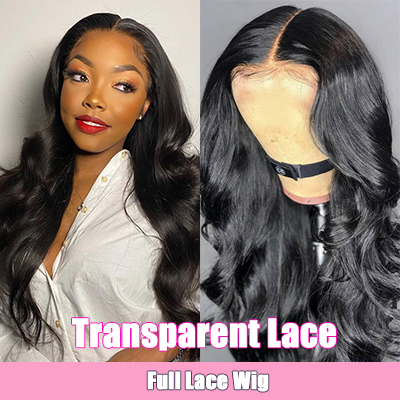 Transparent Lace Wigs Human Hair Full Lace Wigs Virgin Hair Long Body Wave Wig