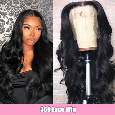 Cheap Human Hair Wigs Body Wave 360 Lace Frontal Wigs Pre Plucked With Baby Hair