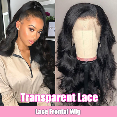 Transparent Lace Front Wig Brazilian Body Wave Lace Frontal Wig