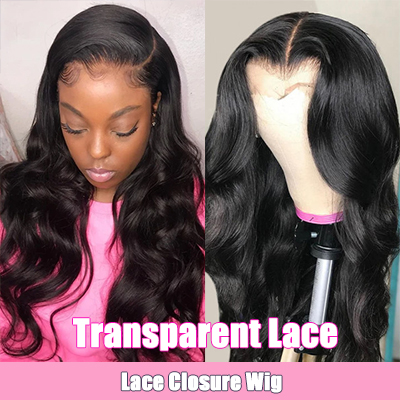 Transparent Lace Wig Closure Wigs Brazilian Body Wave Lace Front Wigs