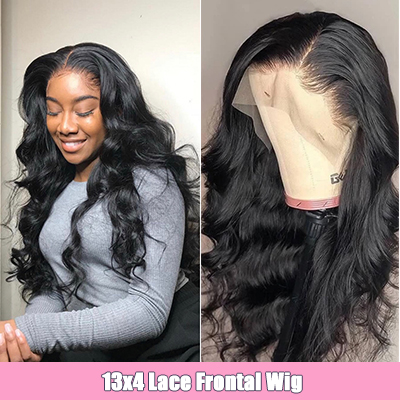 Body Wave Human Hair 13*4 Lace Front Wigs Pre-Plucked Wigs Natural Looking