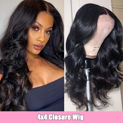Body Wave 4x4 Lace Closure Wigs Affrodable Human Hair Wigs