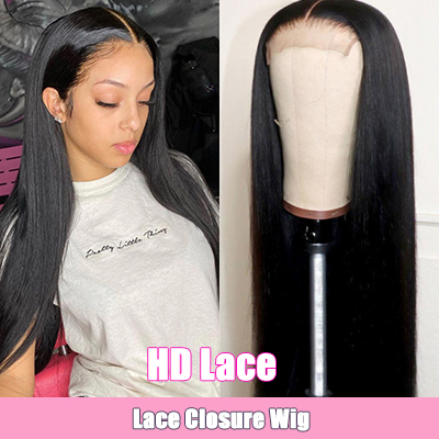 High Quality Straight HD Lace Wigs Natural Hairline Lace Front Wigs Human Hair