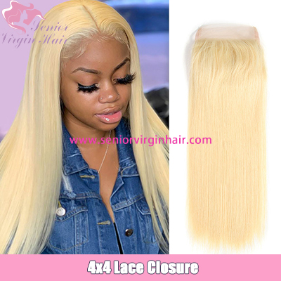 Brazilian Straight Hair 613 Blonde Lace Closure 4x4 Human Hair Closure