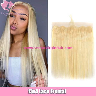 Pure 613 Straight 13x4 Lace Frontal With Baby Hair Virgin Human Hair