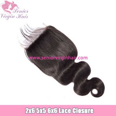 6x6 5x5 2x6 Lace Closure Best Brazilian Human Hair Swiss Lace Closure Pre Plucked With Baby Hair