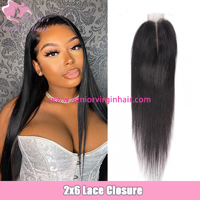 Brazilian Hair Straight Lace Closure 2*6 Lace Closure 100% Virgin Human Hair