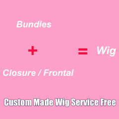 Custom Made Wigs Free Charge Bundles With Closure Frontal